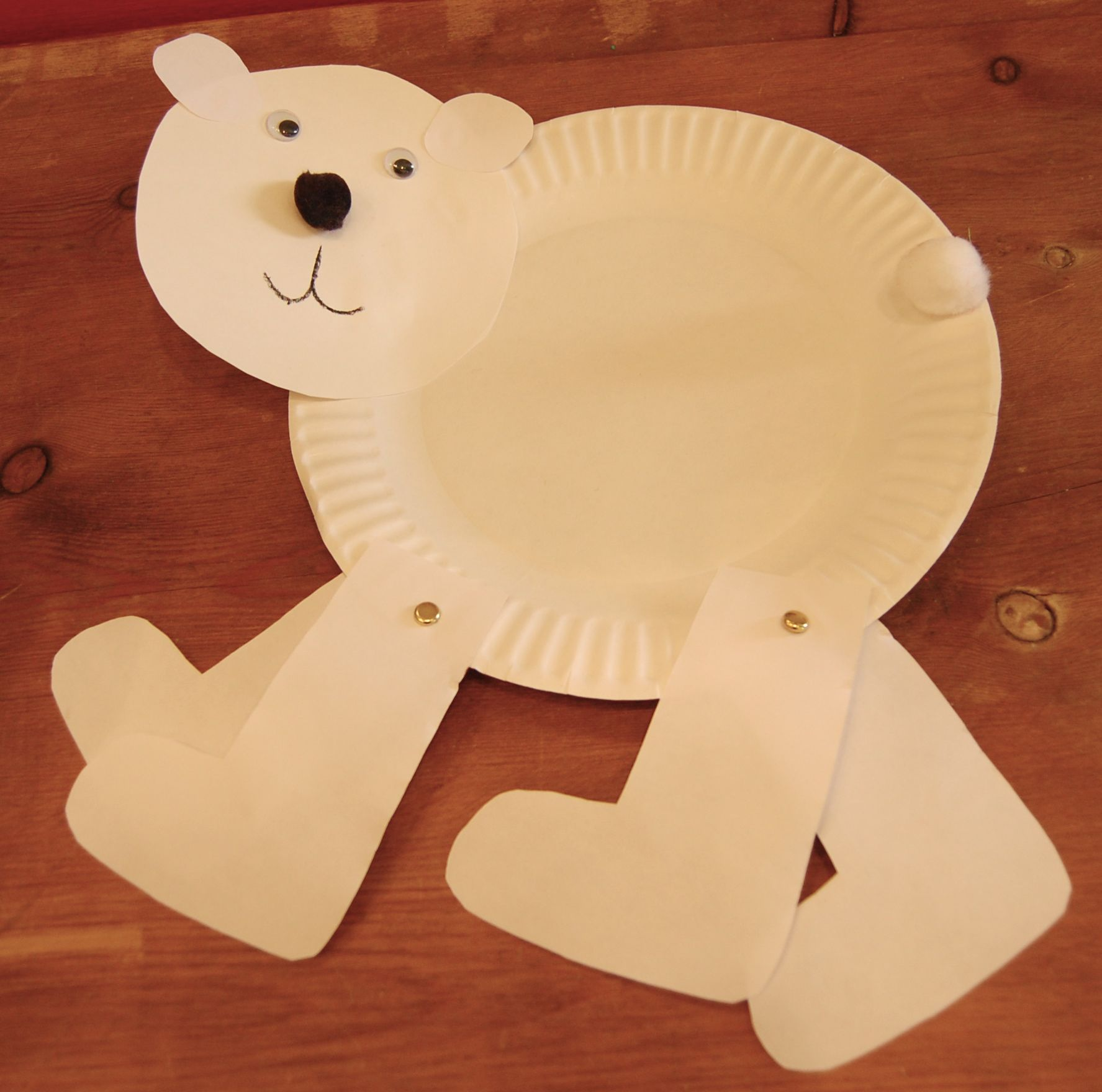 Materials needed for this craft are Two paper plates ... & Walking Polar Bear u2013 Day 9 National Craft Month March 2012 | Fragile ...